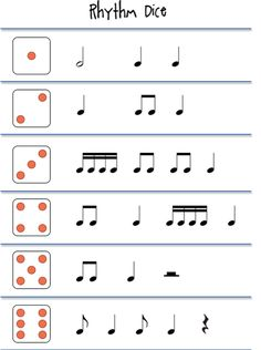 Beths Music Notes: Rhythm games - good way to not have to change 10 sets of dice! Rhythm Games, Preschool Music, Music Activities, Teaching Music, Movement Activities, Elementary Music Lessons, Piano Lessons, Elementary Schools, Middle School Music
