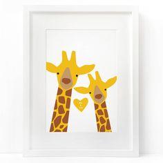 giraffe me and you 'selfie' print by heather alstead design | notonthehighstreet.com