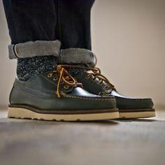Loden Vibram Sole Trail Oxford.  http://oakstreetbootmakers.com/footwear/loden-vibram-sole-trail-oxford