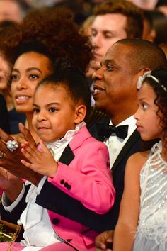 No One Was More Proud of Beyoncé at the Grammys Than Jay Z and Blue Ivy