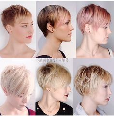 Growing out a short pixie cut @samkanehair