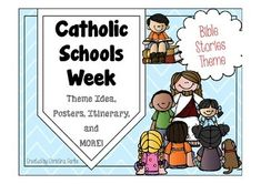 God speaks to us through the Bible, other people, and things that happen.We will be reading a Bible story each day on morning announcements!This pack is for Catholic Schools Week and is the Bible Stories Theme. It includes EVERYTHING you need for the entire week for the entire school!!!
