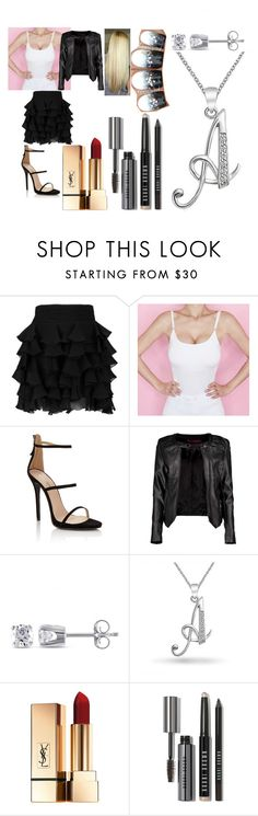 """Untitled #1516"" by kkfeher ❤ liked on Polyvore featuring Balmain, Lipsy, Boohoo, Miadora, Bling Jewelry and Bobbi Brown Cosmetics"