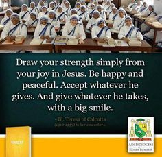Mother Teresa - Indian Nun, received the Nobel Peace Prize for her work in Calcutta, India with the Missionaries of Charity Be Ye Holy, Missionaries Of Charity, Saint Teresa Of Calcutta, Learning To Pray, Mother Teresa Quotes, Fantastic Quotes, Christian Movies, Positive Living, Words Worth