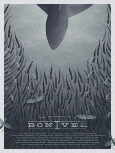 Bon Iver poster by DKNG $60 // Beautiful shapes...plus Deming always wins points from me ;)