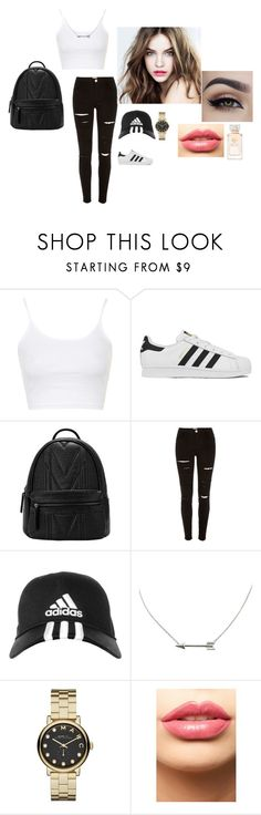 """""""Untitled #29"""" by lysndrsp on Polyvore featuring Topshop, adidas, River Island, Marc by Marc Jacobs, LASplash, L'Oréal Paris, Tory Burch, women's clothing, women and female"""