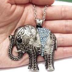 Alloy Rhinestone Lucky Elephant Pendant Necklace Rhinestone Lucky Elephant Pendant Necklace NEW                                             Description:  Elephant (trunk up) means Long life, luck, remover of obstacles, self-preservation.  As interpreted in Tassography - Advise needed, good luck (trunk up), obstacles overcome, remembrance, slow ascent to success, strength, wisdom. Perfect gifts for your beloved one. N/A Jewelry Necklaces