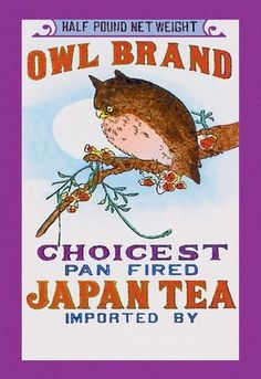 Owl Brand Tea #2 12x18 Giclee on canvas