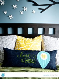 Silhouette America Blog | DIY Fabric Ink / Fabric Applique Pillow Cover