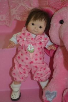 """Original Art OOAK Polymer Clay baby doll girl 7"""" Betsey  by Yulia Shaver"""