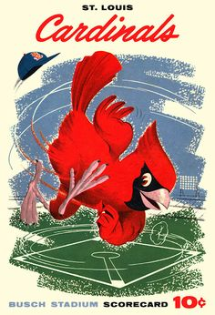 1958 St. Louis Cardinals Scorecard