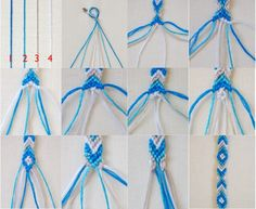 Step by step how to make a friendship bracelet!