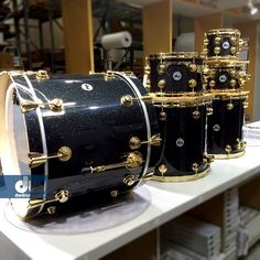 FinishPly with Gold Hardware #dwdrums #thedrummerschoice
