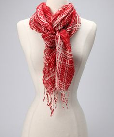 Another great find on #zulily! Red Classic Plaid Scarf by Tickled Pink #zulilyfinds