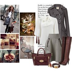 Business meeting! by nikol128 on Polyvore featuring moda, Alexander McQueen, Orla Kiely, Coast + Weber + Ahaus, Mulberry, Bee Charming and Vintage
