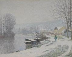 Maxime Maufra - La neige à Port-Marly