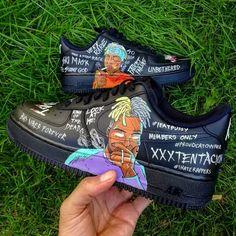 XXXtentacion custom air force one ,custom sneaker ,custom shoes Cute Nike Shoes, Cute Nikes, Custom Painted Shoes, Custom Shoes, Jordan Shoes Girls, Girls Shoes, Nike Shoes Air Force, Nike Air Max, Sneakers Fashion