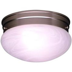 KK8209NI Ceiling Space Flush Mount Ceiling Light - Brushed Nickel