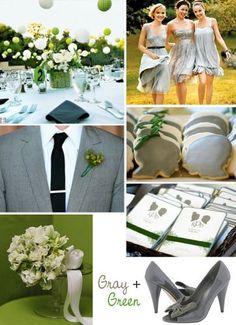 grey wedding inspiration