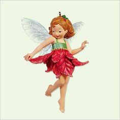 POINSETTIA FAIRY 2005 Hallmark Keepsake Ornament First in Fairy Messengers Series QX2145 -- Want additional info? Click on the image. (This is an affiliate link) #HomeDecorIdeas
