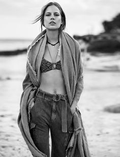 Elisabeth Erm photographed by Sam Hendel and styled by Virginie Benarroch for Glamour France, August 2015
