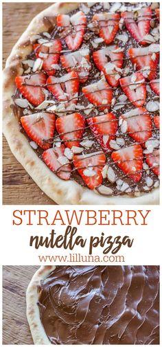 Strawberry Pizza, Strawberry Recipes, Vegan Kitchen, Kitchen Recipes, Pizza Dessert, Pizza Cake, Cookie Pizza, Pizza Nutella, Pizza Recipes