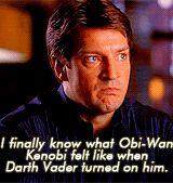 I finally know what Obi-Wan Kenobi felt like when Darth Vader turned on him. #Castle