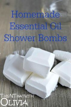 Homemade Essential Oil Shower Bombs   ThisNThatwithOlivia