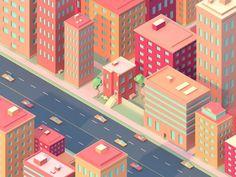 """Résultat de recherche d'images pour """"ville Flat art"""""""