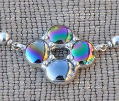 Celtic black glass cluster choker necklace от lightcurves на Etsy