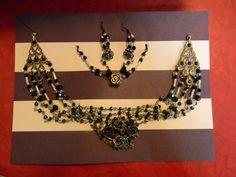 Handmade crystal earring necklace and bracelet set
