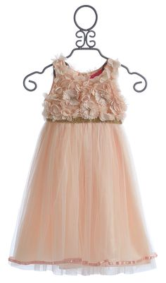 Le Pink Fairy Princess Sleeveless Girls Fancy Dress in Peach $96.00