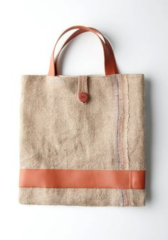 Burlap & Muslin Original Tote by vasiltsarev on Etsy, $50.00