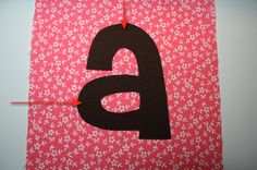 How to sew around letters