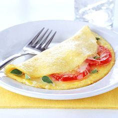 Fresh Tomato Omelets with Mozzarella Cheese    If you're thinking this dish could use a personal touch, add your favorite natural herb along with the oregano for a more full flavor. Not an oregano fan? Substitute basil, dill, or marjoram.    Carbs: 4 g per serving