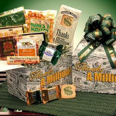 "Thanks A Million"" Deluxe Corporate Thank You Basket"