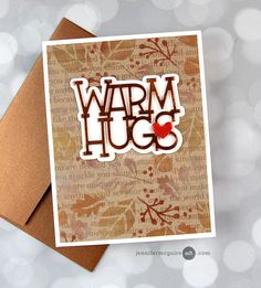 Pearl Background, Jennifer Mcguire Ink, Thanksgiving Place Cards, Leaf Stencil, Simon Says Stamp Blog, Backgrounds Free, Fall Cards, Card Making Inspiration, Free Gifts