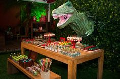 Jurassic Park Party with Such Awesome Ideas via Kara's Party Ideas | KarasPartyIdeas.com