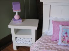 Nightstand / Bookshelf for American Girl Doll