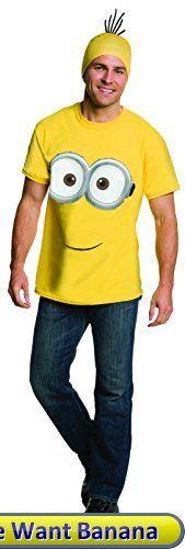 Rubies Costume Co Mens Minion Costume T-Shirt Yellow Large