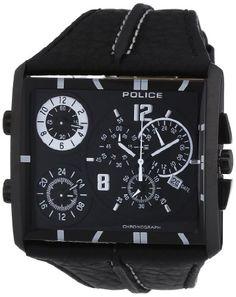 POLICE - P13497JSB-02B - Montre Homme - Quartz Chronographe - Chronomètre - Bracelet Cuir Noir Police http://www.amazon.fr/dp/B008QXRQKK/ref=cm_sw_r_pi_dp_2lFEub03WDPH2