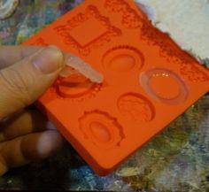 use regular old cheapo glue gun on Mod Podge mold!!!