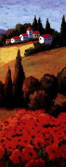 Tuscan+Poppies+Panel+II
