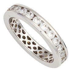 Schöner Silberring mit Zirkonias, einreihig rundum - Was für ein tolles Geschenk!
