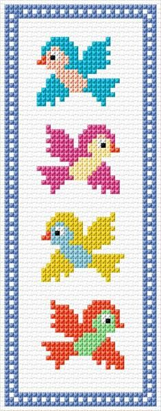 35 x 89 stitches 11 colors Cross Stitch Geometric, Tiny Cross Stitch, Baby Cross Stitch Patterns, Butterfly Cross Stitch, Cross Stitch For Kids, Cross Stitch Bookmarks, Cross Stitch Alphabet, Cross Stitch Animals, Cross Stitch Designs