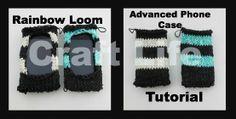 Advanced Phone Case Tutorial on the Rainbow Loom ~  Rainbow Loom Advanced Phone Case