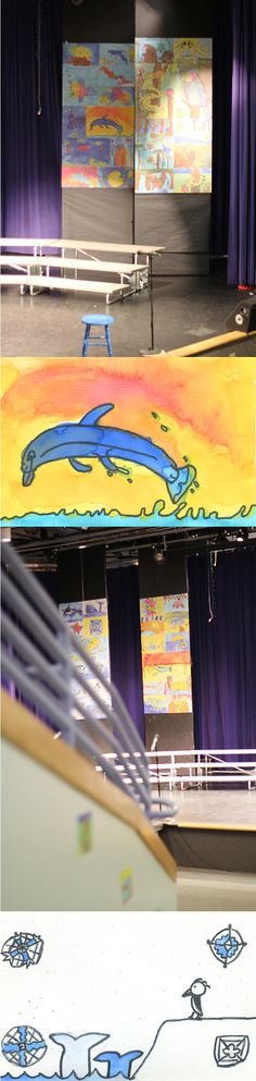 WALLS 360 created a custom collection of wall graphics for the Gilbert Magnet Elementary School for Communication & Creative Arts in Las Vegas – featuring the digitized artwork of some absolutely amazing young artists!