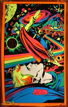 marvel third eye poster blacklight thor via Cool & Collected