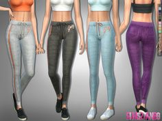 The Sims Resource: 225 - Athletic pants by sims2fanbg • Sims 4 Downloads
