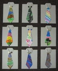 "Fathers day cards with hand painted ties. From Teach Kids Art."" data-componentType=""MODAL_PIN"